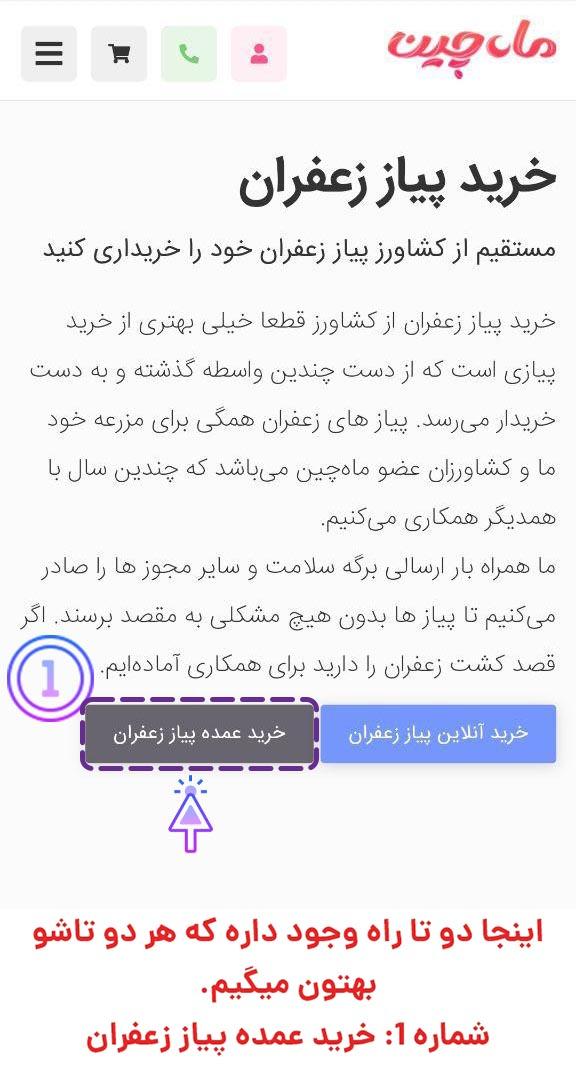 صفحه خرید پیاز زعفران